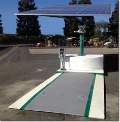 The first photograph of the finished EV ARC™ product Photo courtesy of Envision Solar