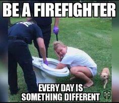 Be a firefighter. Firefighter Training, Firefighter Family, Firefighter Paramedic, Female Firefighter, Firefighter Quotes, Volunteer Firefighter, Fire Dept, Fire Department, Fire Hall