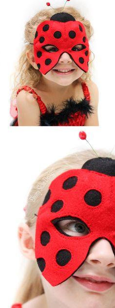 Ladybug Mask Pattern. INSTANT DOWNLOAD sewing pattern for ladybug animal mask kids costume