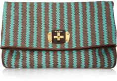 Woven Leather Clutch