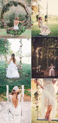 outdoor rustic elegant wedding swings ideas for brides. Rustic outdoor wedding idea is more and more popular recently, if you want to make your wedding special, please feel free to get some inspiration from the gallery.