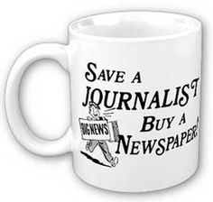 Taza solidaria: Salva a un periodista. Compra un periódico