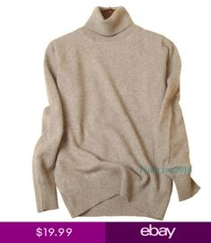ad803e26324 Womens Slim Knitted Turtleneck Cashmere Jumper Pullover Elasticity cozy  Sweater
