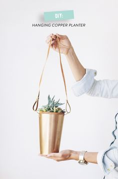 Hanging Copper Planter