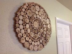 Modern Rustic Wood Slice Round Circle Spiral Wall Art Sculpture Tree Rings Handmade Abstract Organic Design Repurposed Shabby Chic - ALL ABOUT Wood Slice Crafts, Wood Crafts, Modern Rustic, Rustic Wood, Diy Wood, Rustic Decor, Wood Projects, Woodworking Projects, Creation Deco