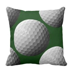 sports golf balls throw pillow