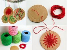 Woven Cardboard Cookies | 36 Adorable DIY Ornaments You Can Make With The Kids