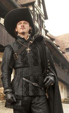 Luke Evans as Aramis in The Three Musketeers, costumes designed by Pierre Yves Gayraud