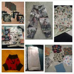 Things I made for my little one cloth wipes fleece soaker fleece longie pants and an insert https://www.facebook.com/erikawahm1?ref=hl