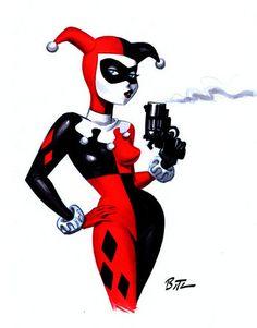 Harley Quinn  Bruce Timm art