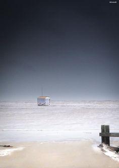 La plage de Gruissan envahie par la mer Photo d'Olivier
