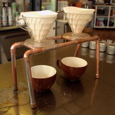 Pour Over Coffee Station | Steampunk Industrial 2 Station Coffee Pour by ElecGuitarBuilder, $110 ...