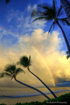 Rainbow Sunrise in Maui by Kelly Wade Beautiful World, Beautiful Images, Places To Travel, Places To See, Maui Hawaii, Hawaii Usa, Kauai, Destinations, Hawaiian Islands