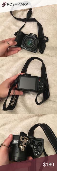 Nikon Camera Selling this Nikon camera. Been used but stopped using it. Nikkor 15X wide optical zoom vr. Will need 4 batteries & your own sim card. I unfortunately don't have any cords to hook up to the computer.   🚫DON'T TRADE 💜OPEN TO OFFERS 🎀ALWAYS A SALE (I like to change it up) 💎 LOVE SHARING OTHER PEOPLES ITEMS 🍑 FAST SHIPPER 🌺 SAVE MONEY N BUNDLE 👍🏼 ONLY SHIP ON WEEKDAYS. (I usually work every weekend. The post offices are closed when I get off) 👑if you have any questions…