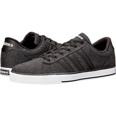 adidas SE Daily Vulc Shoes, Black (725 MXN) ❤ liked on Polyvore featuring shoes, black, black laced shoes, adidas footwear, black shoes, adidas shoes and kohl shoes