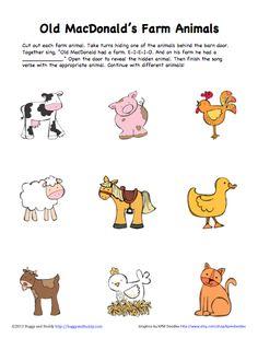 Peek-a-boo farm animal activity