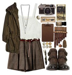 """""""Vintage & Nature & Earthy"""" by ruthaudreyk ❤ liked on Polyvore"""