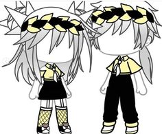 Twin Outfits, Couple Outfits, Girl Outfits, Cute Anime Chibi, Cute Anime Pics, Kawaii Anime, Cute Anime Character, Character Outfits, Kawaii Drawings