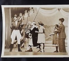 Super Circus Cast Photo - Mary Hartline, Claude Kirchner, With ABC Promo Script