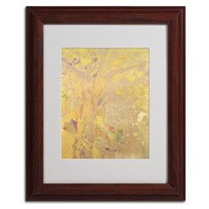 """Trademark Art """"Yellow Tree 1900"""" by Odilon Redon Framed Painting Print Size: 14"""" H x 11"""" W x 0.5"""" D, Frame Color: Brown"""