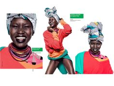 Alek Wek's Interview & Shoot for United Colors of Benetton Spring/Summer 2013 Campaign.