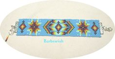 Hand Woven Indian Style Seed Bead  Bracelet Diamonds by Barbswish, $18.00