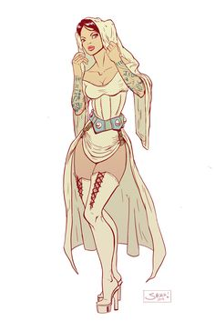 Burlesque Princess Leia. So much win here.