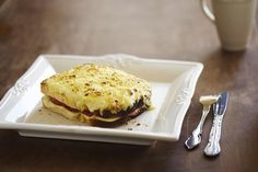 And the ham and cheese? The French perfected it and called it the Croque Monsieur. | 12 Open-Faced Oven Melts That Will Ruin You For Life