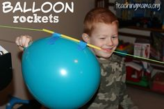 Making balloon rockets is so much fun! It's a quick play activity, so it's great for a day where you need an easy play idea. Here's what you need: string balloon string tape something to tie string to To set up, tie string on one sturdy object to another object. We did this activity in our …