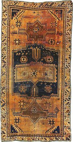 Orange 4' 4 x 8' 7 Shiraz Persian Rug | Persian Rugs | eSaleRugs