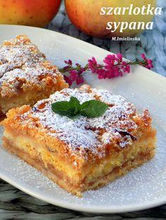 Domowa Cukierenka - Domowa Kuchnia: szarlotka na grysiku (sypana) Cake Recipes, Dessert Recipes, Muffins, Beautiful Desserts, Apple Cake, Frugal Meals, Relleno, French Toast, Deserts