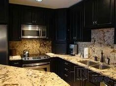 Image Search Results for dark cabinets with light granite countertops