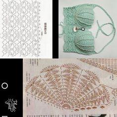 Discover thousands of images about Crochet Bikini Pattern - Crochet Lace Bralette Set - Lingerie - Brazilian Bottoms - Boho - Festival wear - CROCHET PATTERN - Crochet Bra Débardeurs Au Crochet, Diy Crochet Bikini, Crochet Bikini Pattern, Crochet Mermaid, Crochet Stitches, Crochet Patterns, Crochet Crop Top, Afghan Patterns, Diy Crafts Knitting