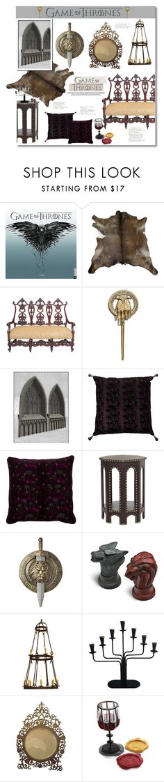 """Game Of Thrones"" by anitadz ❤ liked on Polyvore featuring interior, interiors, interior design, home, home decor, interior decorating, Lux & Bloom, ThinkGeek, Laura Lee Design and Ystad-Metall"