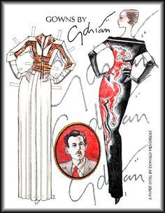 GOWNS by Fashion Designer Gilbert Adrian (1903 - 1959) 1 of 2  RUSSIAN Бумажные куклы. Часть первая - мир моды ENGLISH Paper dolls. Part I The World of Fashion