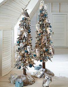 Northern Lights Owls Tree