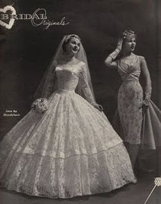 Another of the designs from a 1958 bridal magazine.