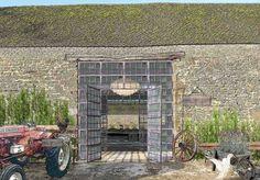 Soho Farmhouse, Great Tew Estate near Titbury. By the Soho House Group.  The barn entrance