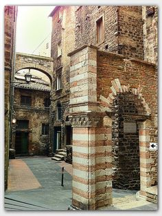 Medieval architecture, Perugia, Italy- we toured and stayed overnight in Perugia and it was beautiful and the underground pathways from outside of the fortress was awesome
