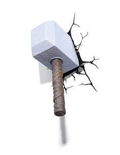 3d Wall Art Thor Hammer Nightlight by Marvel