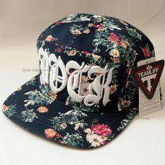 DOCK floral pattern vintage flower korea fashion snapback hat design by ingong teamlife
