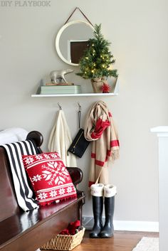 How cute + festive is this light-up burlap Christmas tree from @homegoods? Love the twinkle! (Sponsored Pin)