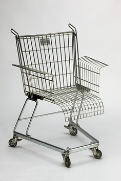 Shopping cart office chair...business and pleasure. For the homeless office.
