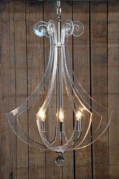 lucite chandelier