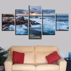 Click the BUY IT NOW Button! Fast and Secure Free Worldwide Shipping! Exceptionally designed with love and care! Our premium quality framed canvases Canvas Art Prints, Canvas Wall Art, Big Sea, Canvas Frame, Wall Decor, Sunset, Landscape, Canvases, Blue