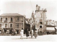 Murcia, Arenal fondo calle San Patricio a la Catedral.Hoy es el inicio de la Gran Vía