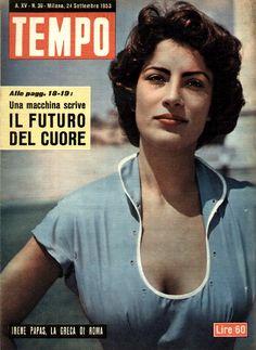 "Movie star Irene Papas: ""The Greek of Rome"" (24th September 1953)."