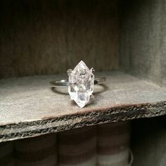 NEW Stone Options Solitaire Ring-Herkimer by GoldSilverAndGems