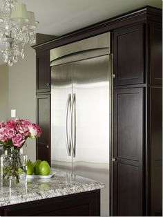 Pantry doors around the fridge