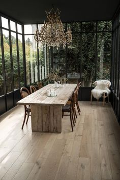Old engineered oak parquet. Cambridge reactive hue, natural look. Floating installation, compatible with underfloor heating. Casa Wabi, Interior Decorating, Interior Design, Parquet Flooring, House Extensions, Glass House, Interior And Exterior, Beautiful Homes, Outdoor Furniture Sets